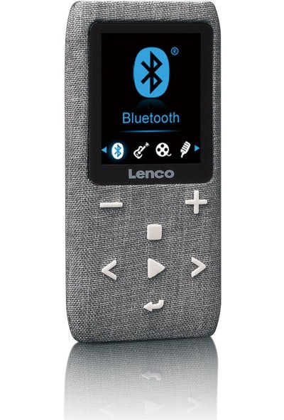 Lenco XEMIO861 8GB BT USB SD Kart Mediaplayer MP4 Çalar Gri