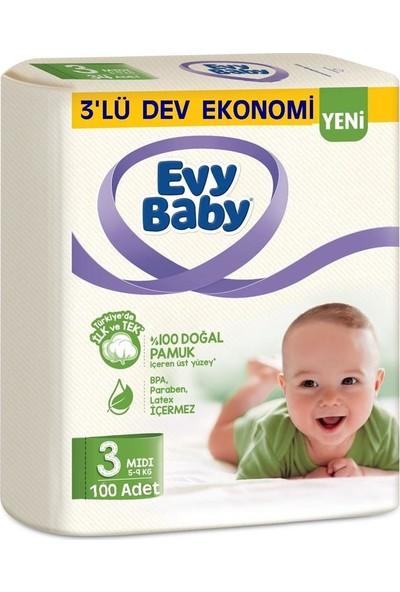 Evy Baby Bebek Bezi 3 Beden 5 - 9 kg 100'lü