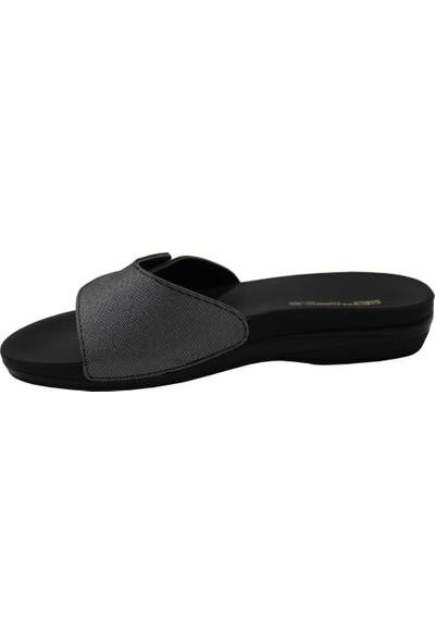 Ceyo Marina-6 Gümüş Ortapedik Kadın Terlik & Sandalet 36