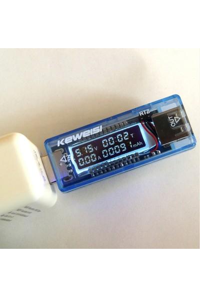 Keweisi USB Tester Akım Ölçer Voltmetre Ampermetre