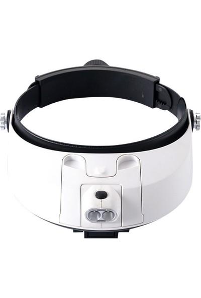 Vision Çift Slotlu Ayarlanabilir Tamir Gözlüğü 5 Büyüteç Mercekli LED