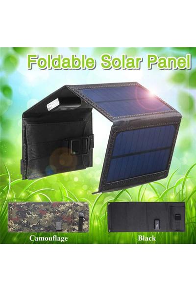 Valkyrie Katlanabilir 4 Panelli Solar Şarj Cihazı Powerbank 20W 2A