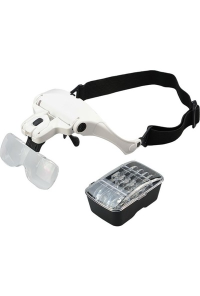 Vision Çift LED Li 5 Mercekli Kafa Bantlı Ayarlanabilir Tamir Gözlüğü