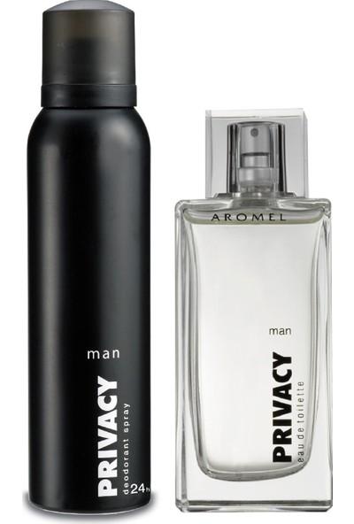 Privacy Man Edt Parfüm 100ML & Deodorant 150ML ve Detox Kömür Duş Jeli 500ML