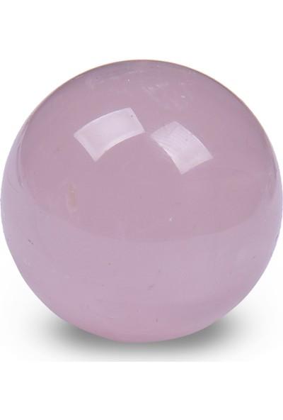 Endoles Pembe Kuvars Küre Ham Taş, Mineral 603220