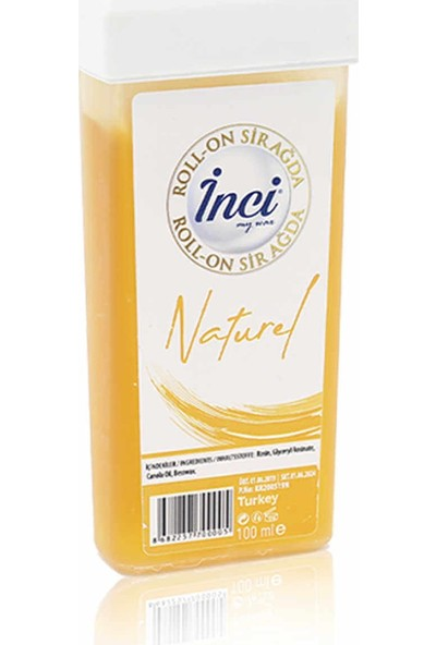 İnci Naturel Roll-On Sir Ağda 100ml - Sert Tüyler İçin