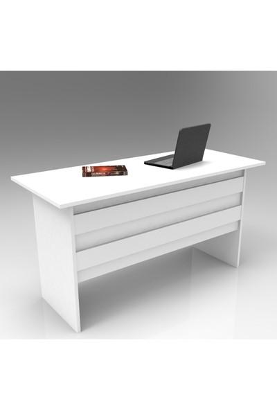 Yurupa Kraft Serisi No: 1 Ofis Çalışma Masası 3 Renk Beyaz VO1-W