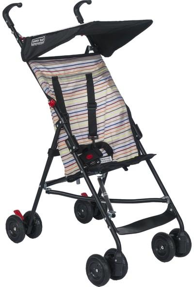 Tommybaby Pratik Baston Puset Bebek Arabası Çocuk Arabası - Siyah