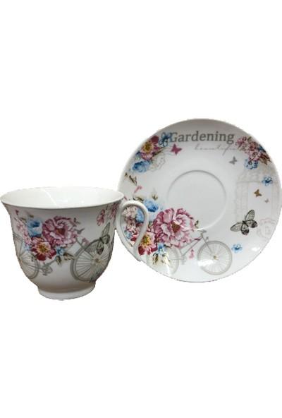 Falez Perry 6 Kişilik 12 Parça Porselen Çay Seti P02