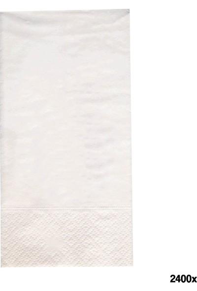 Soft Kağıt Baskısız Peçete 40 x 40 2 Kat 2400'lü Koli