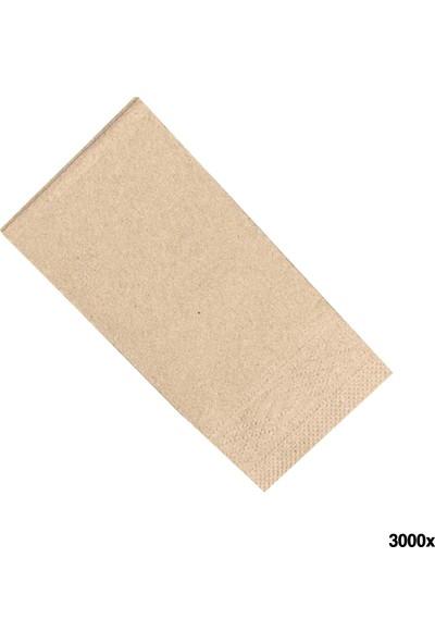 Soft Kağıt Baskısız Kraft Peçete 25 x 33 1/6 2 Kat 3000'li Koli