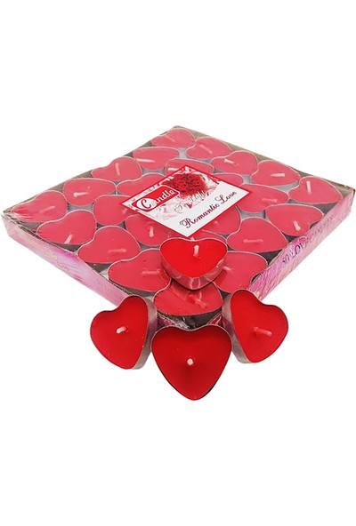 Candle 50'li Kalp Figürlü Mum