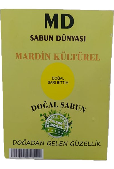 MD Sabun Dünyası Mardin Sarı Bıttım Sabunu 1 Kalıp