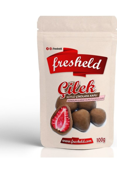 Fresheld Sütlü Çikolata Kaplı Dondurularak Kurutulmuş Çilek 100 gr