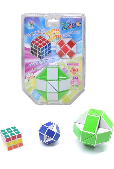 Magic Cube Sabır Küpü Zeka Küpü 3'lü Sihirli Yılan Oyunu
