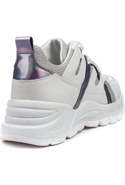 Flet Günlük Spor Ayakkabı Kadın Sneaker Rahat Taban