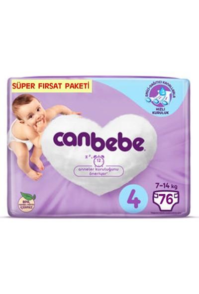 Canbebe Bebek Bezi 4 Beden Maxi 76 X 4 304'lü