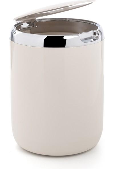 Primanova Tezgah Üstü Plastik Kapaklı Çöp Kovası 3 lt Bej M-E29-09-P