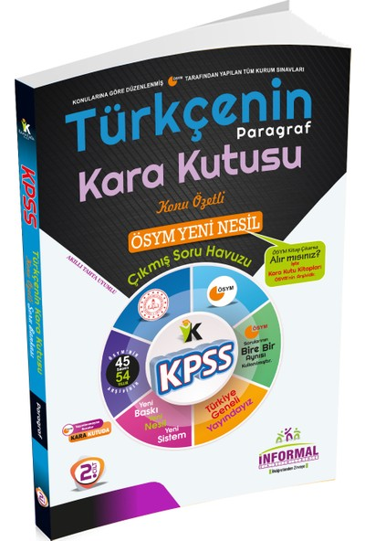 Informal Yayınları KPSS 2020 Türkçenin Kara Kutusu 2.cilt Paragraf