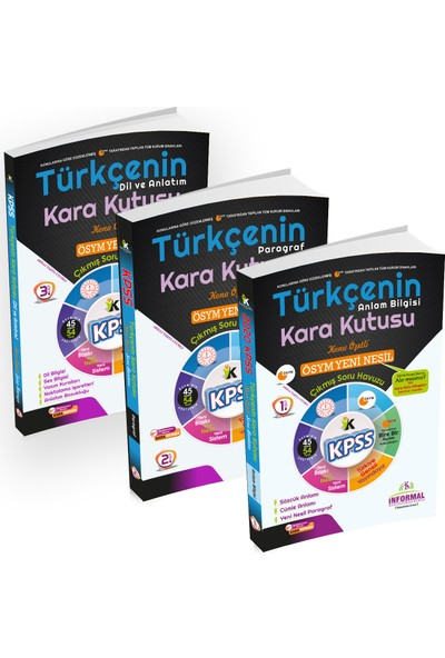 Informal Yayınları KPSS 2020 Türkçenin Kara Kutusu Konu Özetli Soru Bankası Altın Set