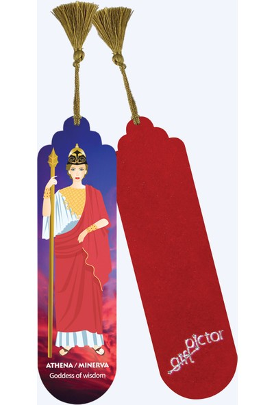 Pictor Gift Metal Püsküllü Yunan Roma Mitoloji Tanrılar Kitap Ayracı Seti 4'lü