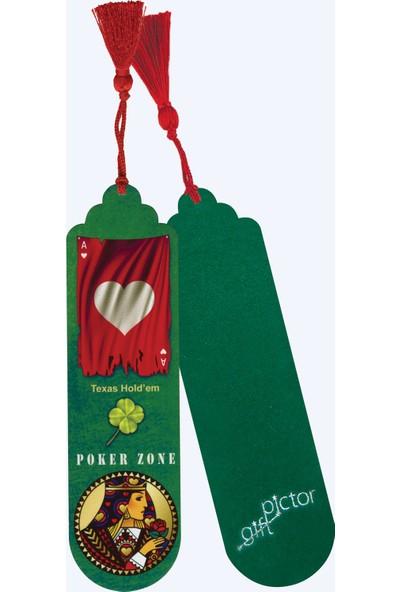Pictor Gift Metal Püsküllü Poker Zone Sinek Karo Kupa Maça Kitap Ayracı Seti 4'lü