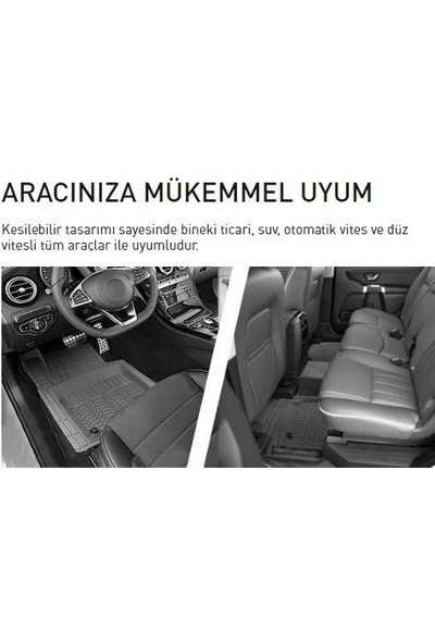 Promats BMW 420D Siyah Renk Profesyonel 3D Havuzlu Paspas 5 Parça