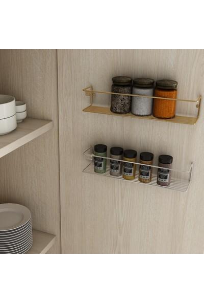 Bino Düzenleyici Mutfak Banyo Makyaj Rafı Organizer Paslanmaz Baharatlık