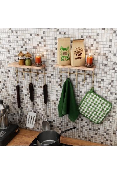 Bino Dekoratif Askı Mutfak Düzenleyici Masif Raf