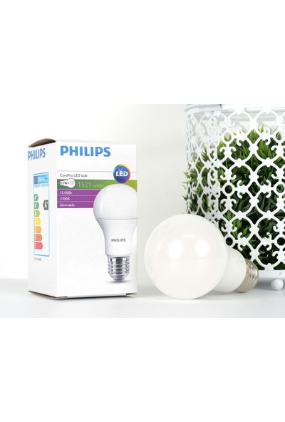 Phılıps Corepro LED 13W (100W) E27 827 Dim Sarı