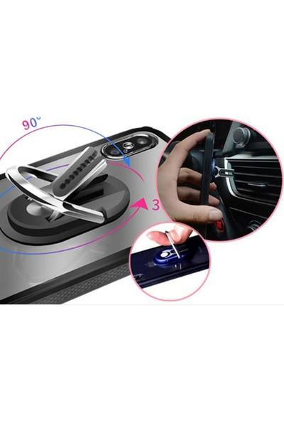 Microcase 3in1 Yapışkan Yüzük Tutucu Araç Içi Telefon Tutucu AL2439 - Gümüş