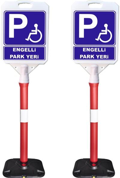 ReklamEdiyoruz Engelli Park Yeridir Park Yapılmaz Uyarı Dubası 2'li