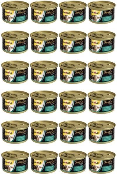 Gimcat Shinycat Tavuklu Karidesli Konserve Kedi Maması 70 gr x 24 Adet