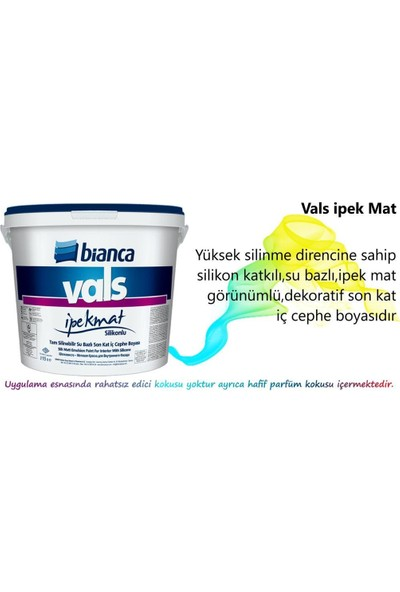 Bianca Vals Mat Silinebilir 15 lt 0101 Beyaz