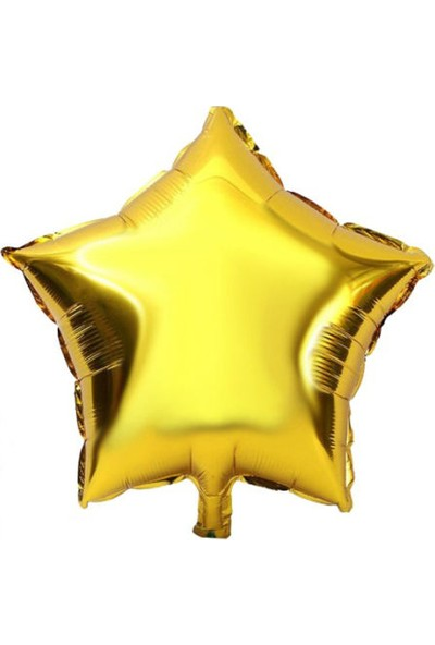Acar Süs Altın Yıldız Modeli Folyo Balon 45 x 45 cm