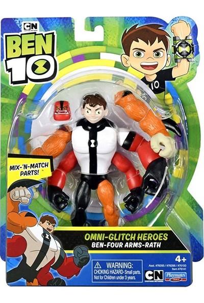 Ben 10 Omnı-Glıtch Heroes Ben-Four Arms - Rath Figür Oyuncak