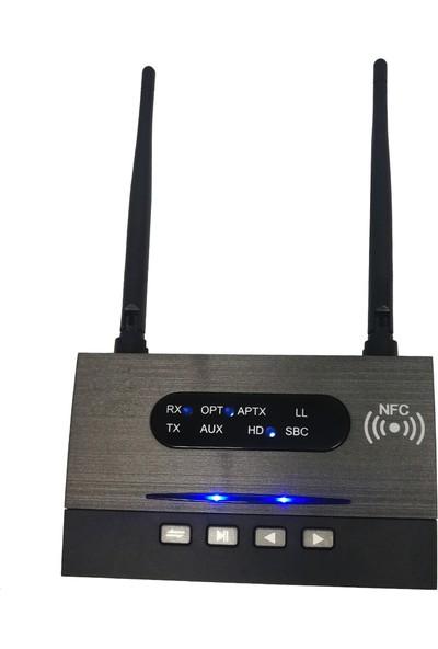 Bluetooth 5.0 Verici Alıcı 3in1 Ses Adaptörü 100 mt Menzil