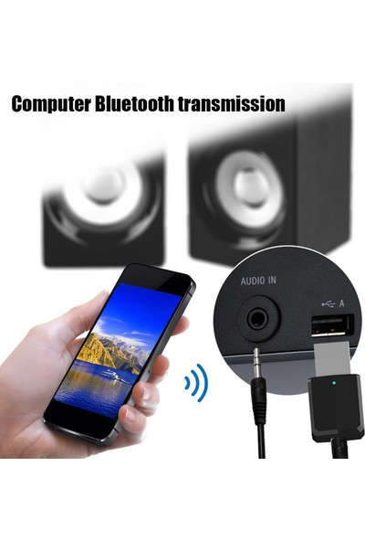 Bluetooth 5.0 Tuşlu Pc / Aux / Araç / Tv Stereo Ses Alıcı Verici
