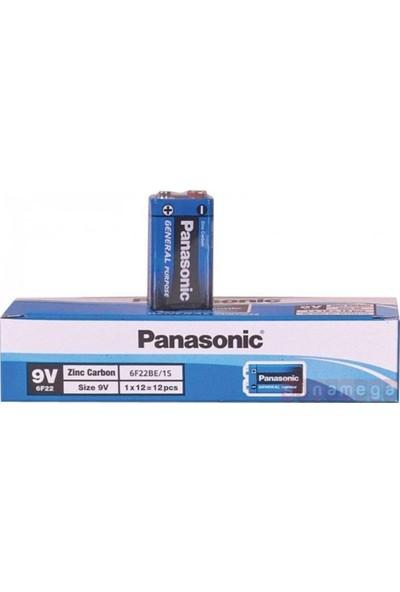 Panasonic 6F22BE/1S Pana-05 9 Volt Tekli Çinko Pil 12'li