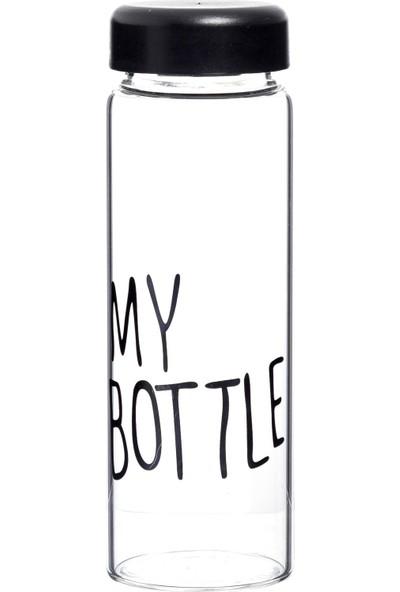 My Bottle Boroslikat Cam Matara Kılıflı 500 ml - Siyah