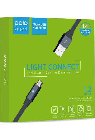 Polosmart PSM27 Micro USB LED Uyarılı Şarj Kablosu