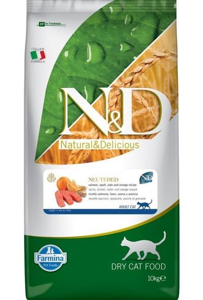 N&D Az Tahıllı Somonlu Kısırlaştırılmış Kedi Maması 10 kg