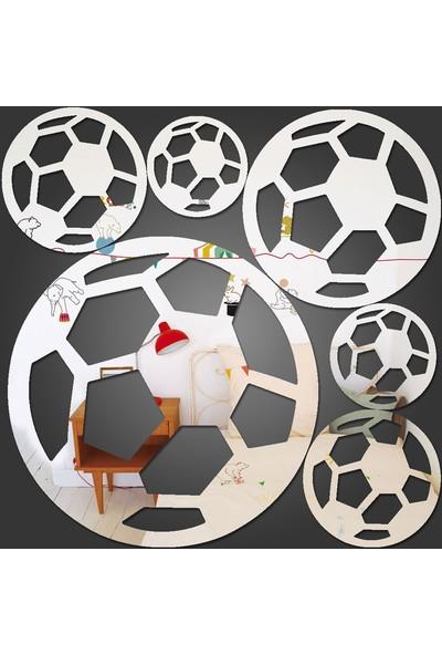 Dez Futbol Topları Dekoratif Ayna Akrilik