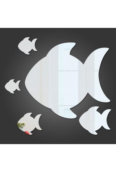 Dez Balıklar Dekoratif Akrilik Ayna 5 Parça