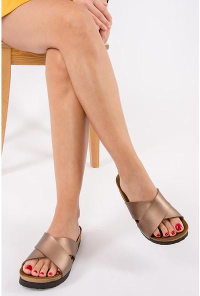Fox Shoes Bronz Kadın Terlik B777742209