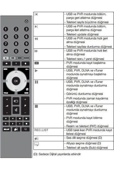 Electroon Arçelik A37LEP6B Uyumlu 3D LED TV Kumanda