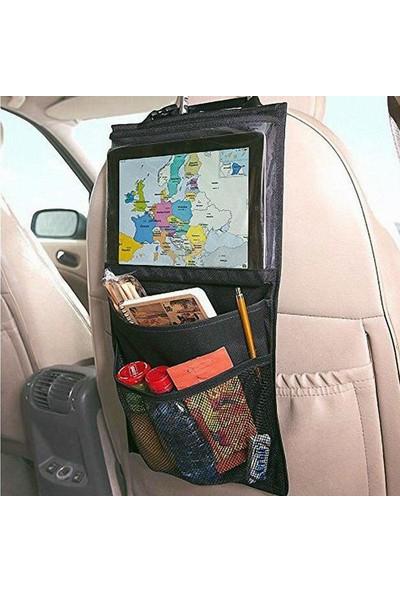 Ankaflex Araba Araç Içi Oto Koltuk Arkası Tablet Tutucu Pratik Cepli Eşya Düzenleyici Çantası Organizeri