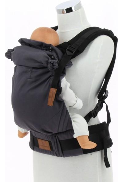 New Age Bebekle Büyüyen %100 Pamuklu Ergonomik Bebek Kanguru (0-4 Yaş) - ANTRASİT