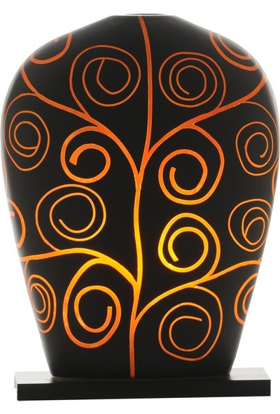 Sensohome Lamp Yoni Large Arabesk Black Orange Lamba