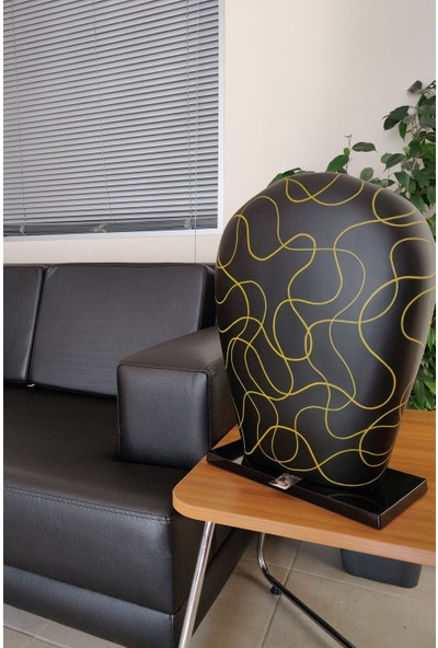 Sensohome Lamp Yoni Large Neuron Black Yellow Lamba